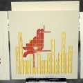 Lego letterpress prints of birds